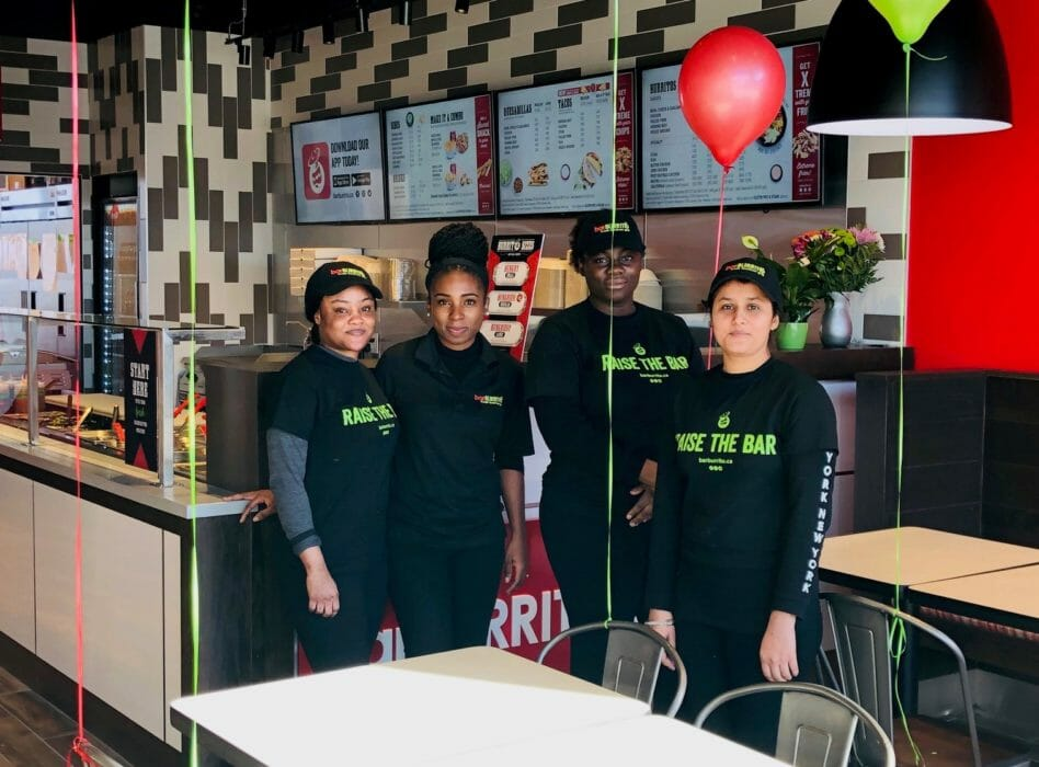 Staff at BarBurrito Brampton Riverview
