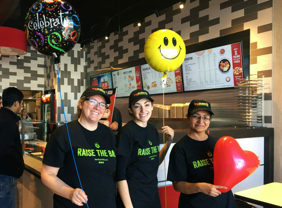Staff at BarBurrito Alliston