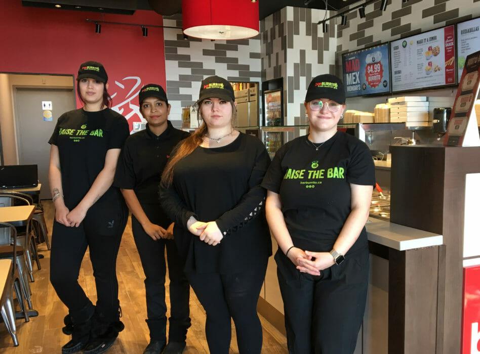 Staff at BarBurito Etobicoke N Queen