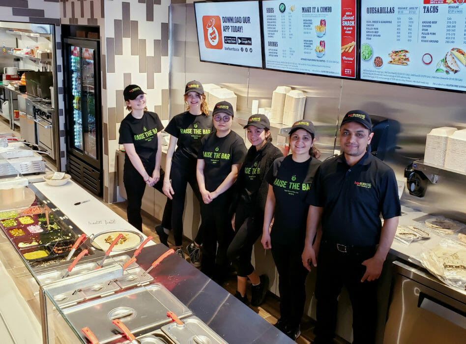 Staff at BarBurrito Stouffville