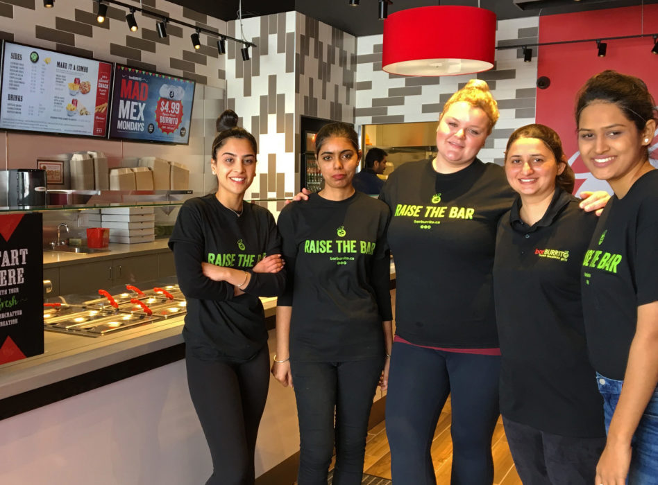 Staff at BarBurrito's Bolton location