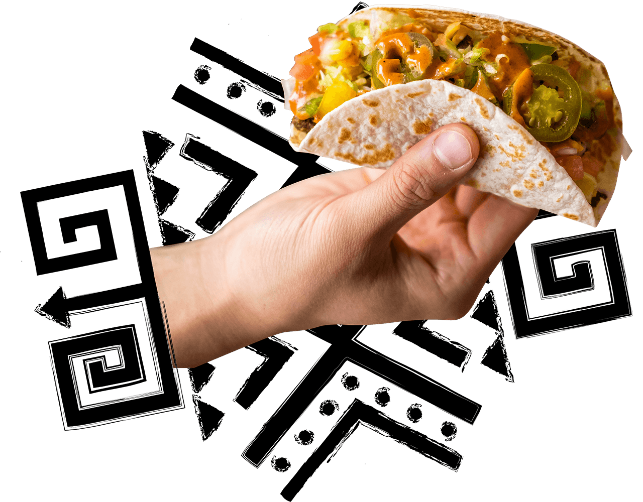 person holding taco