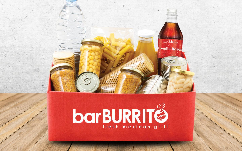 BarBurrito Food Drive Donation Box